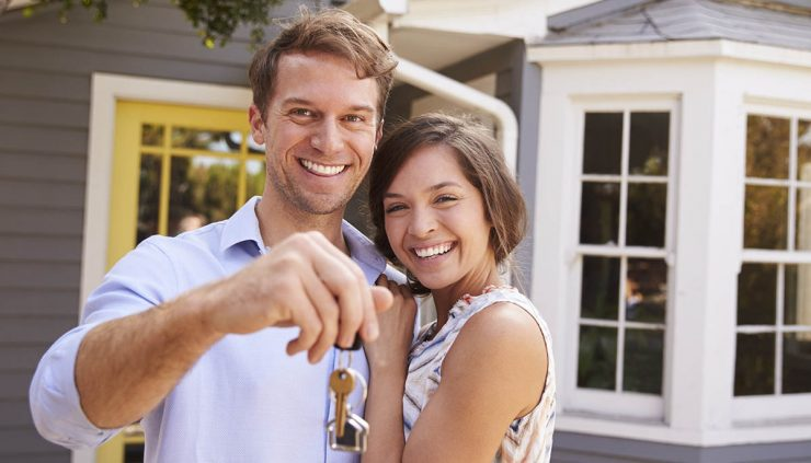 young couple buying their first home