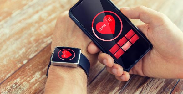 smartwatch with heart rate tracking